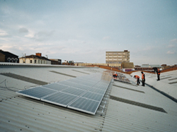 2 x 10kW 3 phase installation at Grimsby Market completed in December 2011 by Leeds Solar